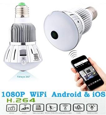 LED Lamp Wifi Camera ini adalah Kamera pengintai dalam bentuk lampu LED  yang langsung dapat terhubung dengan komputer atau 1e31515710
